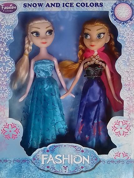 Juego De Muñecas Frozen Ana Elsa Barbie Olaf Princesas