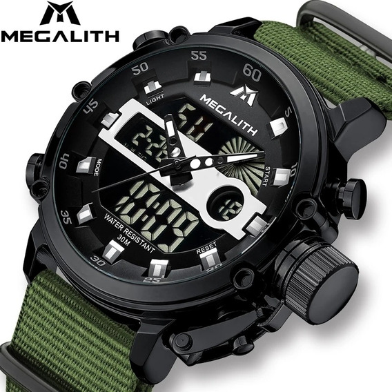 Relógio Esportivo Militar Resistente Pulseira De Nylon