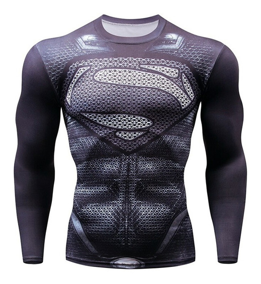 Playera Slim Fit Superman Dry Fit Gym Hombre Caballero