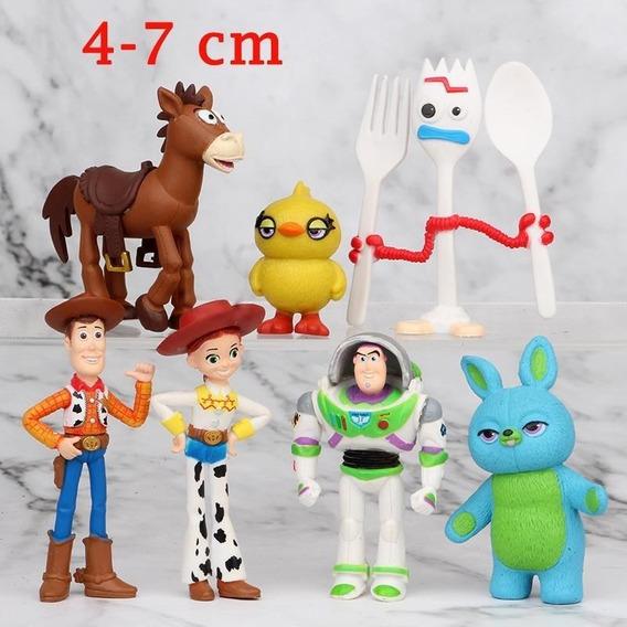 Miniaturas Toy Story 4 Brinquedo 7 Bonecos Buzz Woody Figure