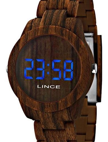 Relógio Lince Unissex Digital Amadeirado Mdp4614p Bxnx