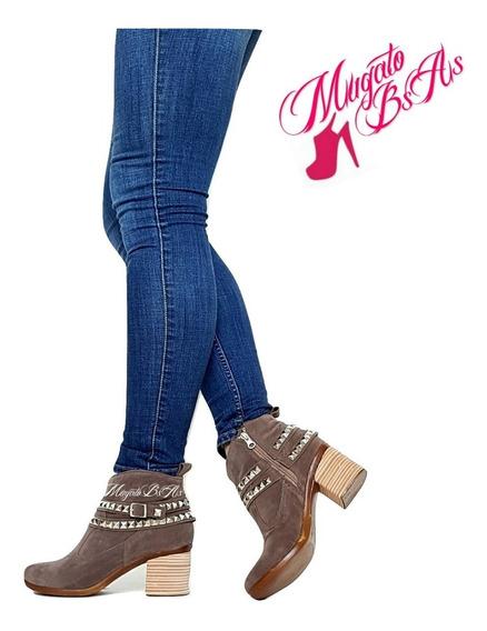 Zapatos Mujer Chatitos Cuero Suela Goma Otoño-invierno 2018