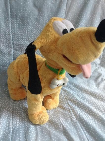 Boneco Pelucia Pluto Disney Grande Late E Mexe Cabeça