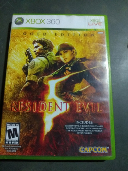 Jogo Residênte Evil 5 Gold Edition Xbox 360 Mídia Física