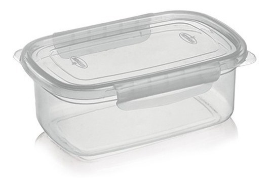 Pote Plástico Com Tampa Travas 460ml Para Alimentos Freezer