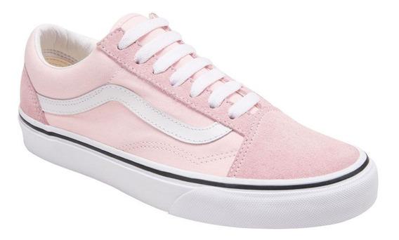 Tenis Casual Vans Ua Old Skool 5tc3 Dama Color Rosa