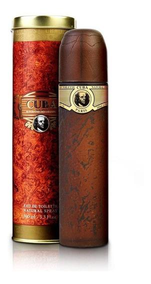Perfume Cuba Gold 100 Ml - Lacrado - Selo Autenticidade Adipec
