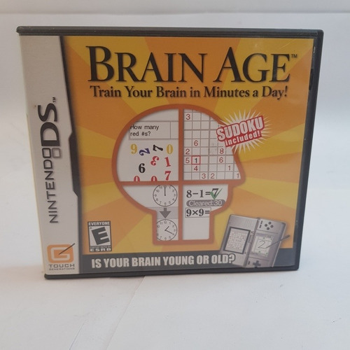 Juego Brain Age Fisico Nintendo Ds Solo Oportunidades