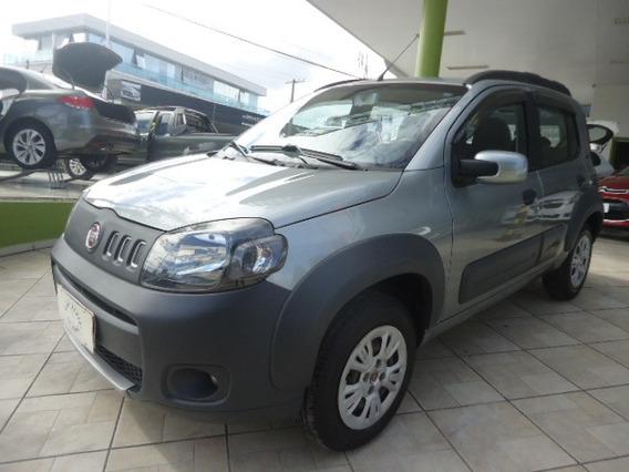 Fiat Uno Way Evo 1.4 Cinza 2012