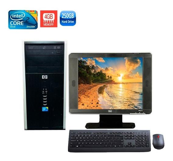 Computador Hp 6000 Core 2 Duo 4gb Hd 250gb + Monitor 15