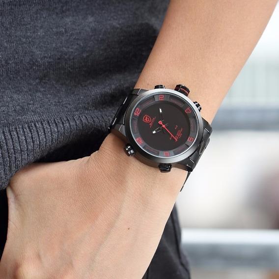 Relógio Esportivo Shark Sh360 Led Aço Inoxidável Promoção