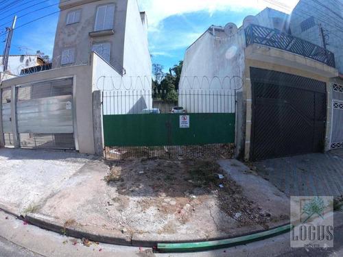 Imagem 1 de 4 de Terreno, 125 M² - Venda Por R$ 255.000,00 Ou Aluguel Por R$ 1.200,00/mês - Jardim Milena - Santo André/sp - Te0018