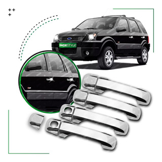 Kit 4 Cubre Manijas Cromadas Para Ford Fiesta Ecosport Ranger Pack De Accesorios