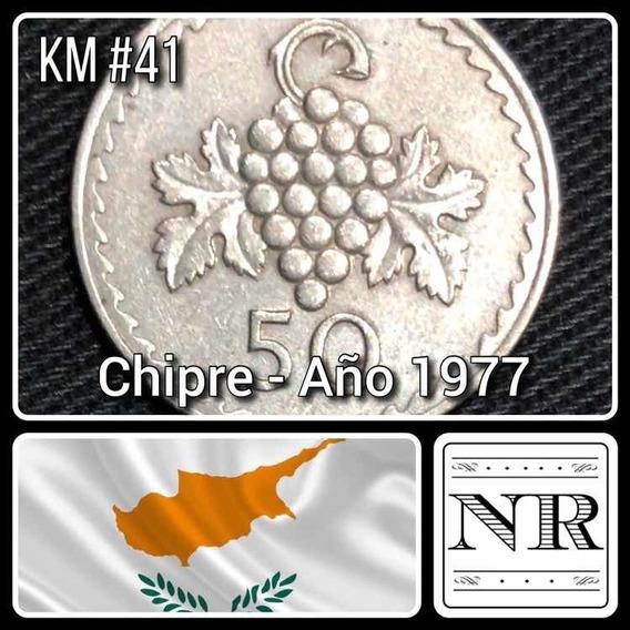 Chipre - 50 Mils - Año 1977 - Km # 41 - Racimo De Uvas