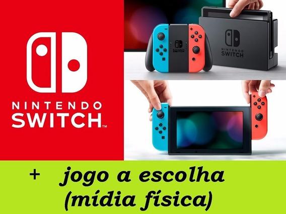 Nintendo Switch 32gb + Jogo A Escolha Pronta Entrega