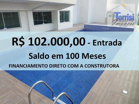 Apartamento Em Praia Grande, 02 Dormitórios Sendo 01 Suite. Na Aviação Ap1607 - Ap1607