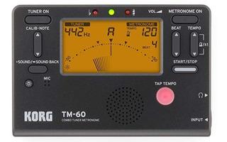 Korg Sintonizador Y Metrónomo Blackreplaces Tm50bk-u