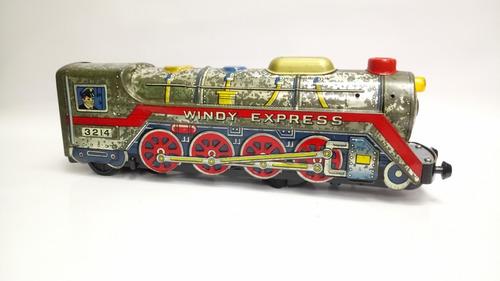 Tren Antiguo En Hojalata Japones Decorativo