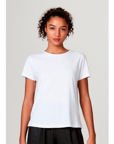 Camiseta Básica Feminina Manga Curta De Algodão Pima Hering