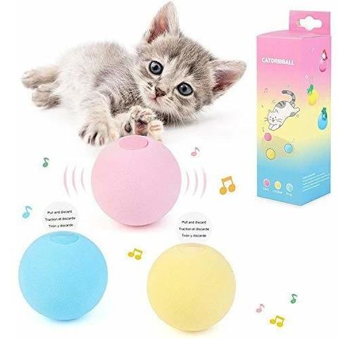 Juguetes Para Gatos 3 Bolas Para Gatos Con 3 Sonidos De Chir