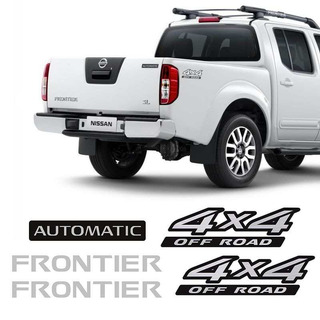 Kit Adesivos Nissan Frontier 4x4 Off Road Automatic Escovado