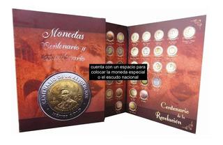 Album Nuevo, Monedas 5 Pesos Del Centenario Y Bicentenario