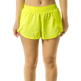 Short Boxer Feminino Tactel Curto Amarelo Frete Grátis