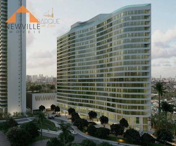 Apartamento Com 1 Quarto À Venda, 39 M² Por R$ 359.931 - Cabanga - Recife/pe - Ap1529