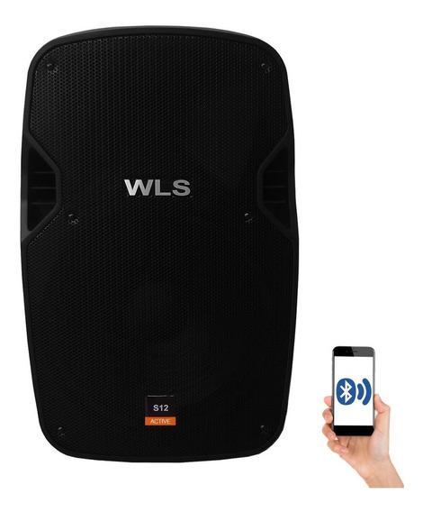 Caixa De Som Ativa Wls S12 Bluetooth 250w Rms Usb Fm