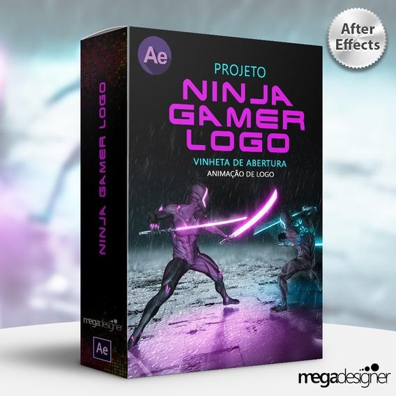 Super Vinheta Animada - Ninja Gamer Logo - After Effects
