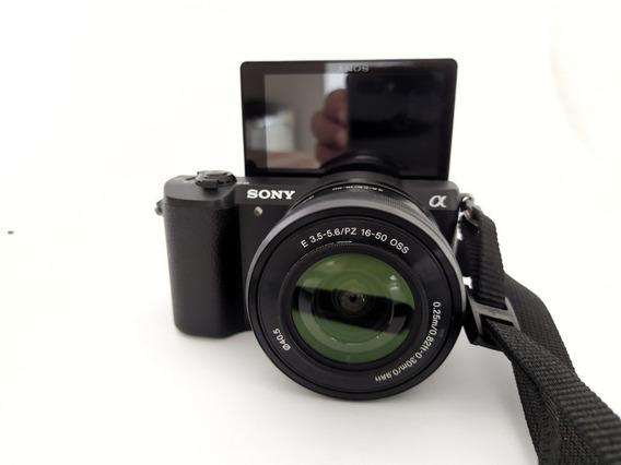 Câmera Sony A5100, Lente 16-50mm, Cartão, 2 Baterias E Bolsa