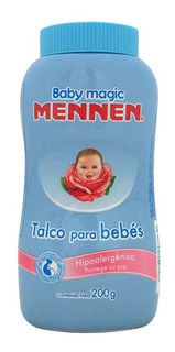 Talco Para Bebés Mennen Baby Magic Hipoalergénico 200 Gr