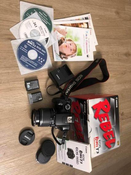 Canon T3 Lente 18-55mm Completa