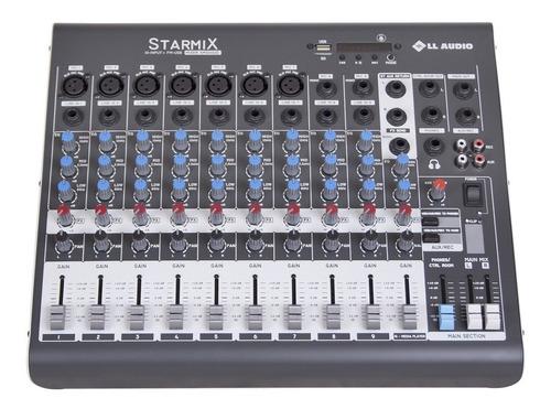 Mesa De Som 10 Canais Starmix Xms1002d Com Usb/bt Nf-e