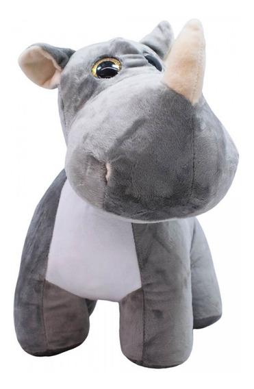 Pelúcia Rinoceronte Focinho Comprido 31cm Original Fofy Toys