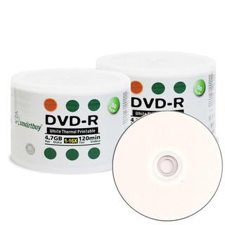 Dvd Smartbuy Imprimible Paquete De 50 Unidades