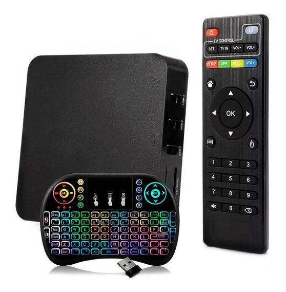 Ctv 4k Android 7.1 Transformar Tv Em Smart Com Teclado