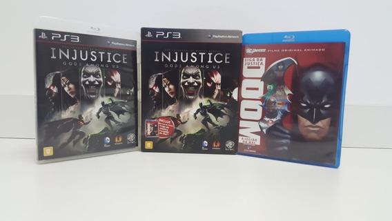 Injustice Gods Among Us + Filme Doom Liga Da Justiça - Ps3