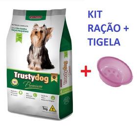 Ração Trustydog Adultos Raças Pequenas 3kg + Tigela 300ml
