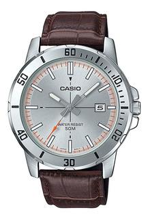 Reloj Hombre Casio Mtp-vd01l-8ev. Cuero. Nuevo