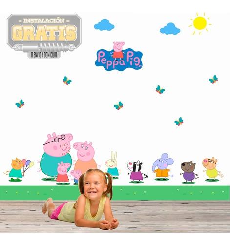 Vinilo Decora Infantil Niños Peppa Pig Vinil + Instalacion