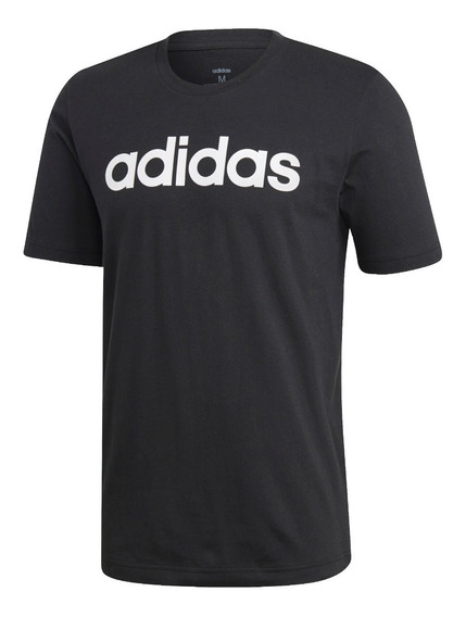 adidas Remera M/c Lifestyle Hombre Linear Logo Negro