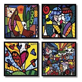 Romero Brito Placas Decorativas 4 Quadros Mdf In Quadre