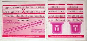Ingresso Final Libertadores 92 - Spfc X Newell