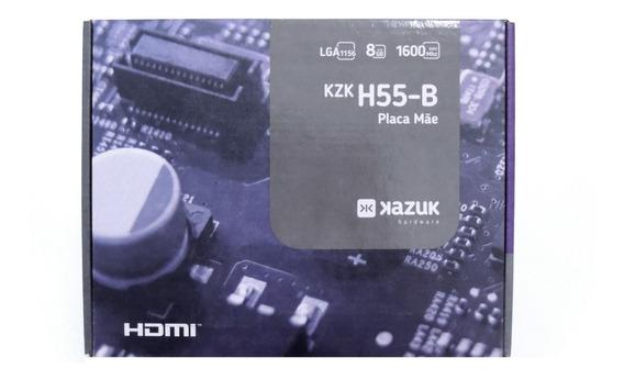 Placa Mãe Lga 1156 D-h55b V1.0 C/ Espelho, Drivers E Hdmi