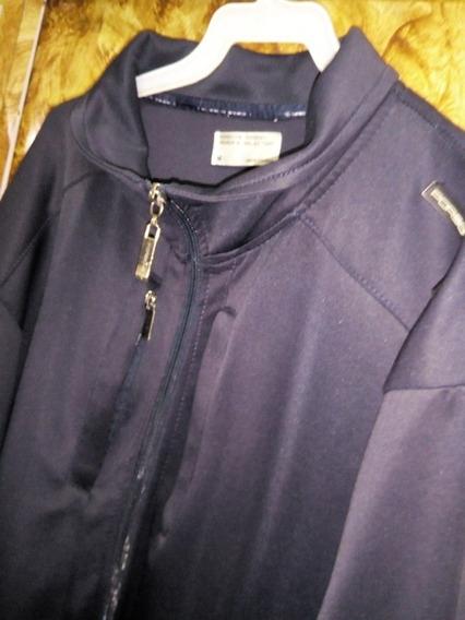 Chaqueta Sweater De Cierre Color Azul Oscuro Talla M Remate