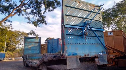 Carreta Semi Reboque 12,5 Mts Transporte Fardo Fazer Prancha
