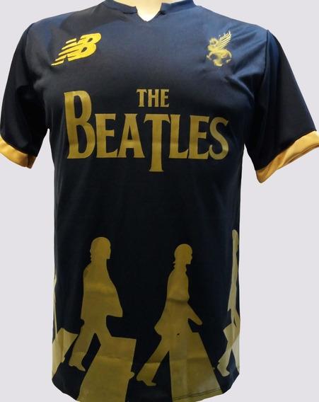Camisa Beatles Liverpool City Branca , Preta E Marinho.