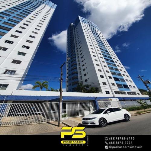 Apartamento Com 3 Dormitórios À Venda, 83 M² Por R$ 420.000 - Brisamar - João Pessoa/pb - Ap3347