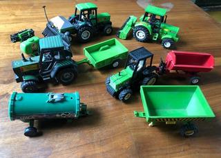 4 Tractores De Juguete Mas 7 Acoplados